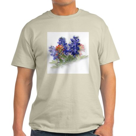Bluebonnets with Indian Paint Ash Grey T-Shirt