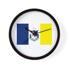Shreveport Flag Wall Clock