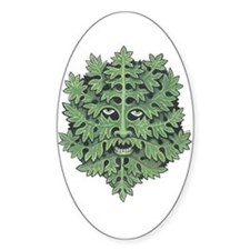 Green Man Oval Decal