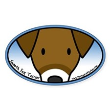 Anime Smooth Fox Terrier Oval Decal
