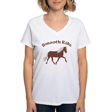 Smooth Ride MtnHrs Women's V-Neck T-Shirt