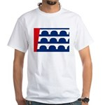 Des Moines Flag White T-Shirt