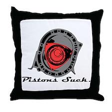 """Pistons Suck"" Throw Pillow"