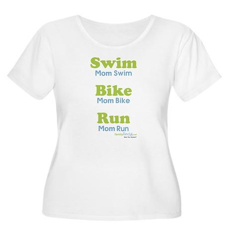 Triathlon Mom Women's Plus Size Scoop Neck T-Shirt