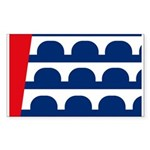 Des Moines Flag Rectangle Sticker
