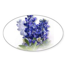 Bluebonnet Spray Oval Decal