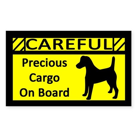 Precious Cargo Smooth Fox Terrier Sticker (Rect)