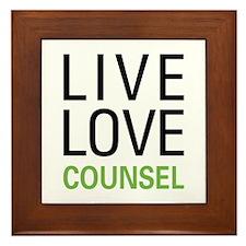 Live Love Counsel Framed Tile