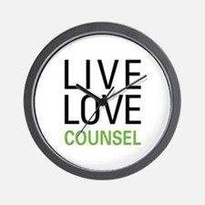 Live Love Counsel Wall Clock