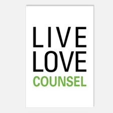 Live Love Counsel Postcards (Package of 8)