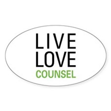Live Love Counsel Decal