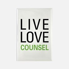 Live Love Counsel Rectangle Magnet (10 pack)