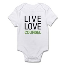 Live Love Counsel Infant Bodysuit