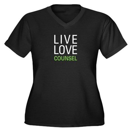 Live Love Co Women's Plus Size V-Neck Dark T-Shirt