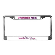 Triathlon Mom License Plate Frame