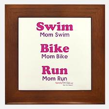 Triathlon Mom Framed Tile