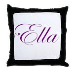 Ella Script Throw Pillow