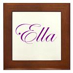 Ella Script Framed Tile