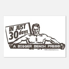 RETRO BENCH PRESS Postcards (Package of 8)