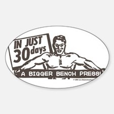 RETRO BENCH PRESS Oval Decal