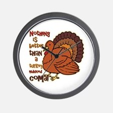 Turkey Induced Coma Wall Clock
