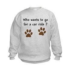 Paw Prints Dog Car Ride Sweatshirt