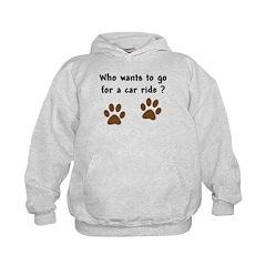 Paw Prints Dog Car Ride Hoodie