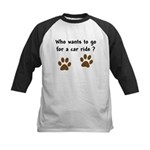 Paw Prints Dog Car Ride Kids Baseball Jersey