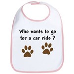 Paw Prints Dog Car Ride Bib