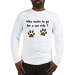 Paw Prints Dog Car Ride Long Sleeve T-Shirt