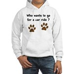 Paw Prints Dog Car Ride Hooded Sweatshirt