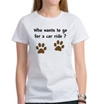 Paw Prints Dog Car Ride Women's T-Shirt