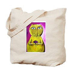 Marcy Hall's Buddha Cat Tote Bag
