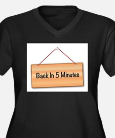 Back In 5 Minutes Plus Size T-Shirt