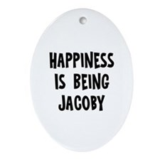 Happiness is being Jacoby Oval Ornament