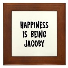 Happiness is being Jacoby Framed Tile