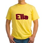 Ella Fat Burgundy Yellow T-Shirt