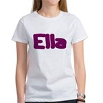 Ella Fat Burgundy Women's T-Shirt