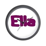 Ella Fat Burgundy Wall Clock