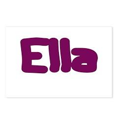 Ella Fat Burgundy Postcards (Package of 8)