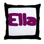 Ella Fat Burgundy Throw Pillow