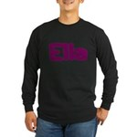 Ella Fat Burgundy Long Sleeve Dark T-Shirt