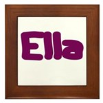 Ella Fat Burgundy Framed Tile