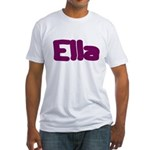 Ella Fat Burgundy Fitted T-Shirt