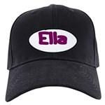 Ella Fat Burgundy Black Cap