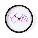 Ella Pink Script Wall Clock