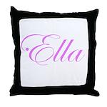 Ella Pink Script Throw Pillow