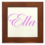 Ella Pink Script Framed Tile