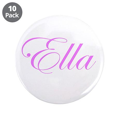 "Ella Pink Script 3.5"" Button (10 pack)"