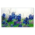 Bluebonnet Painting Rectangle Sticker